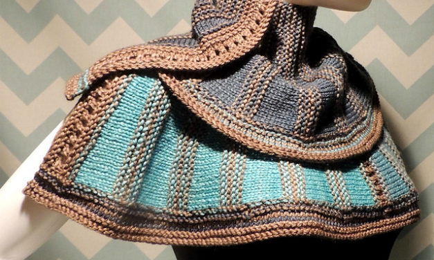 My Fellow Knitters, Here's A Must-Make! Marching Through the Looking Glass Wrap by Jessie Rayot – FREE Pattern