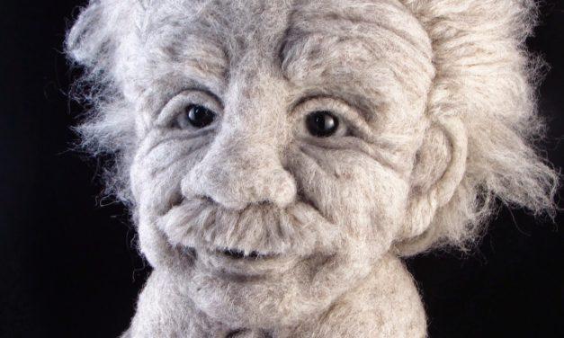 Finn's Pick: Albert Einstein Felted By Bella McBride