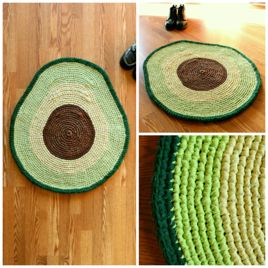 Forget Avocado Toast, It's All About The Avocado Rug ... Crocheted Of Course!
