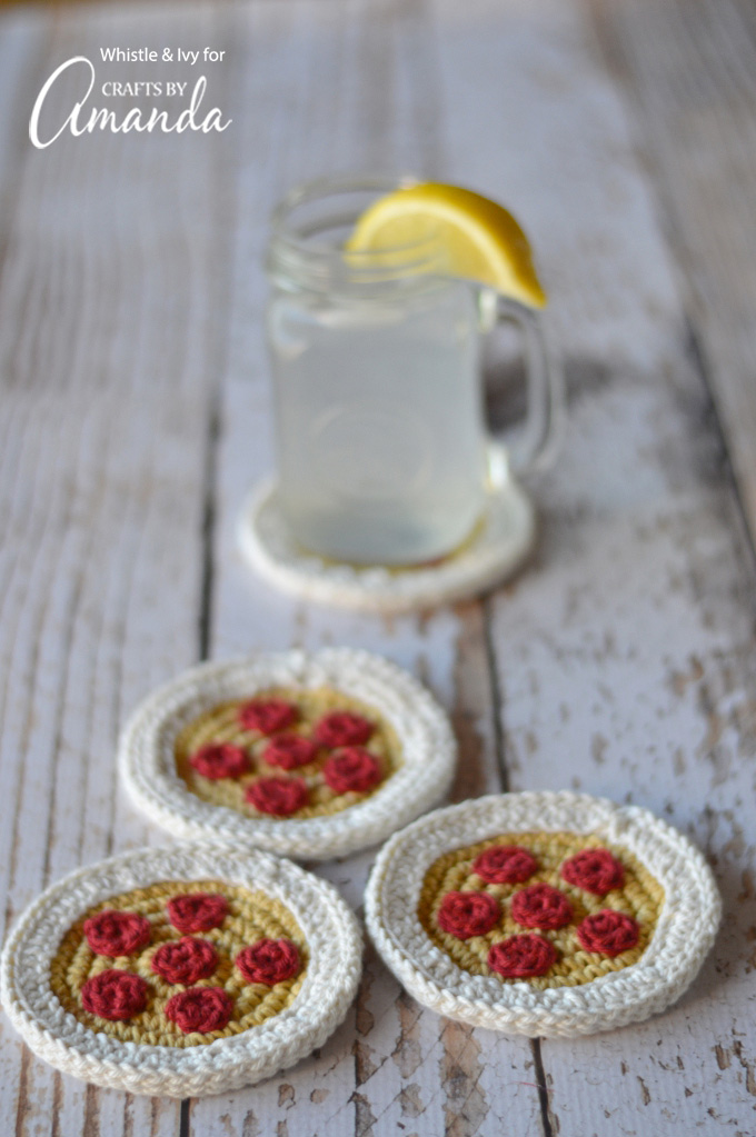 These Petite Pizza Coasters Are Crochet Perfection - Get The FREE Pattern!