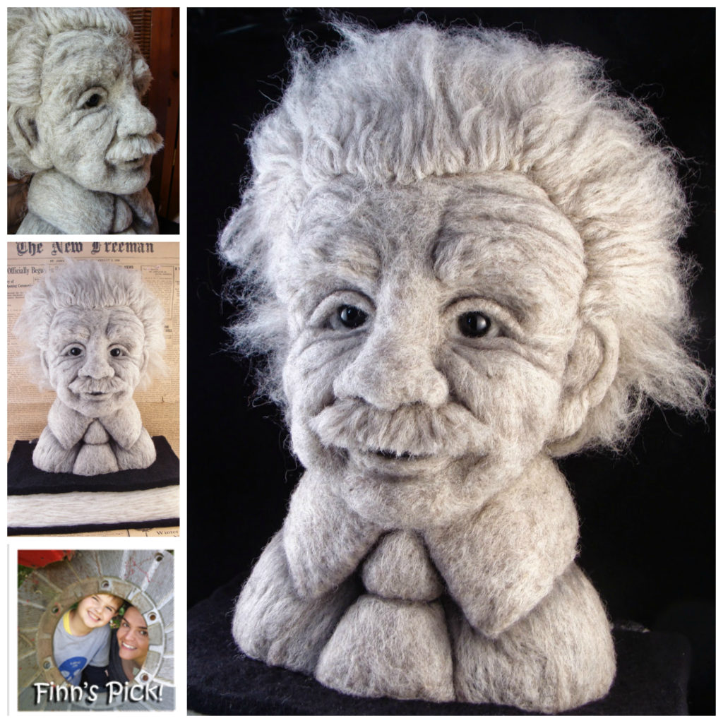 Finn's Pick: Albert Einstein Felted By Bella McBride