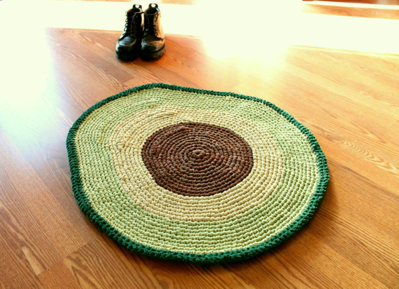 Forget Avocado Toast, It's All About The Avocado Rug … Crocheted Of Course!