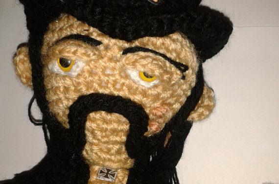 He Crocheted a Lemmy Kilmister Amigurumi!