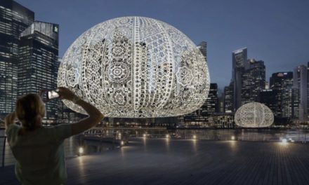 """Choi +Shine's """"The Urchins"""" – An Incredible Large-Scale Crochet Lace Installation"""