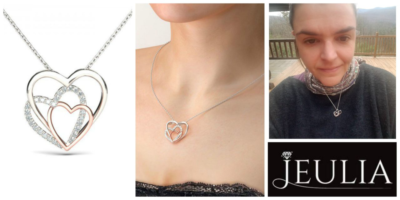 Unboxing Video: Wonderfule Jeulia Design Two Tone Romantic Triple Heart Created White Sapphire Necklace – Now On Sale!