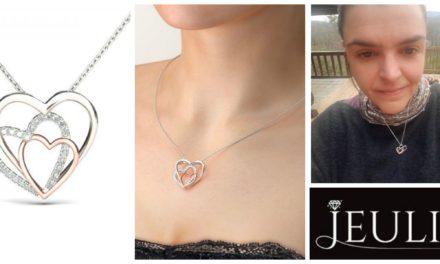 Unboxing Video: Wonderfule Jeulia Design Two Tone Romantic Triple Heart Created White Sapphire Necklace – Now On Sale!