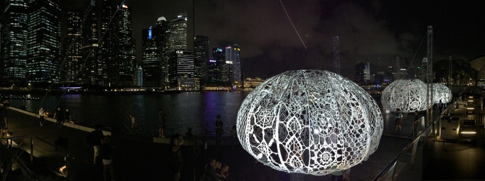 Choi +Shine's 'The Urchins' - An Incredible Large-Scale Crochet Lace Installation