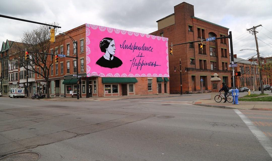 It Took Two Months and Over A Million Loops To Crochet This Stunning Susan B. Anthony Mural