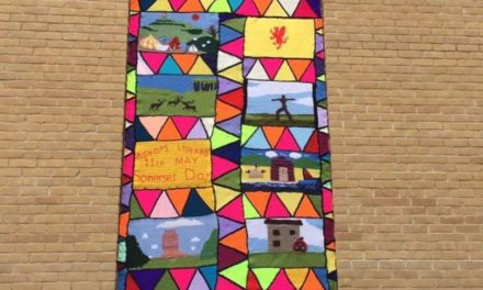 Church Window Yarn Bombed To Look Like Stained Glass For Somerset Day – Simply Magical!
