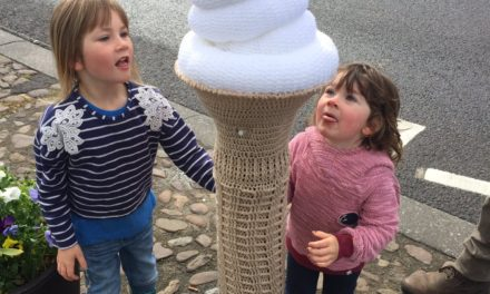 We All Scream For Ice Cream! Check Out This Excellent Ice Cream Cone Yarn Bomb Spotted In Thirsk