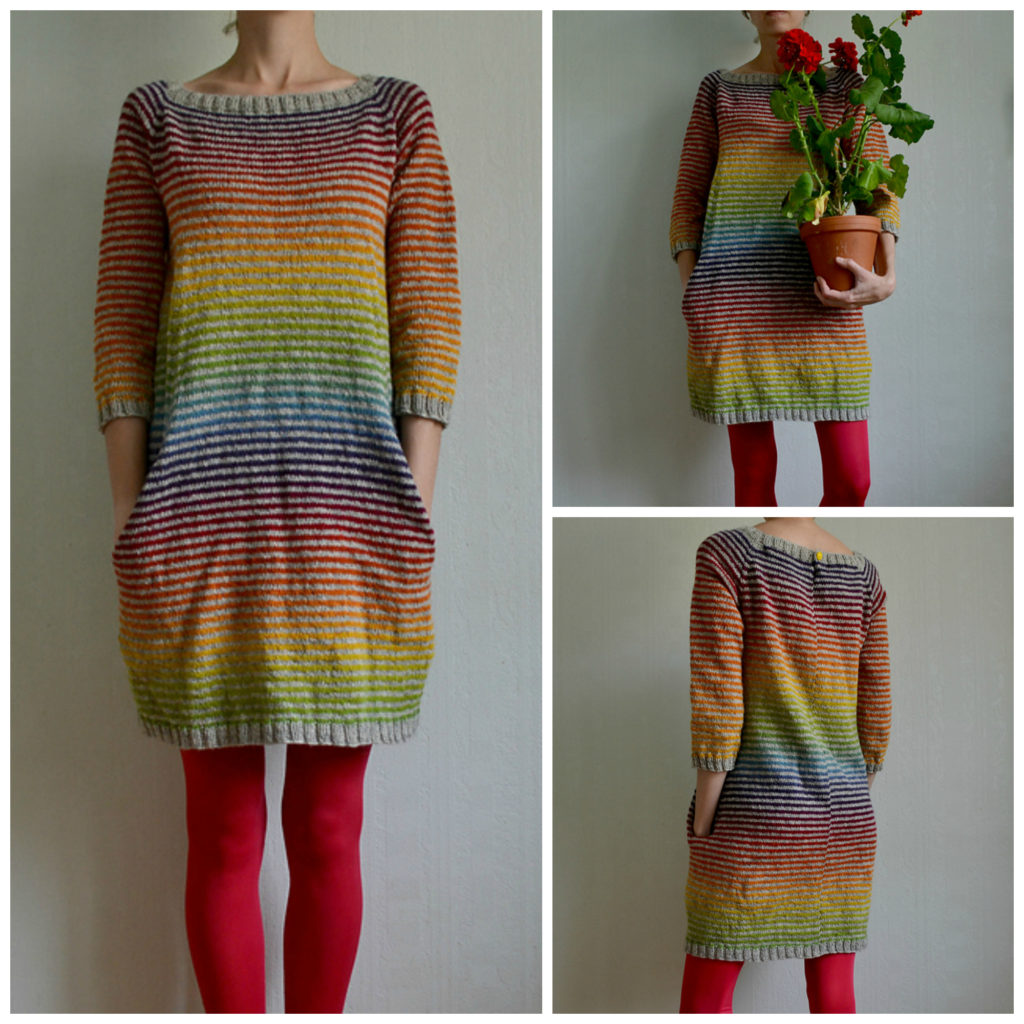 Colorful Still Light Tunic - Knit Rainbow Variation By MissKadri