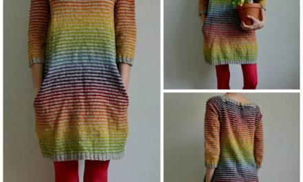 Colorful Still Light Tunic – Knit Rainbow Variation By MissKadri