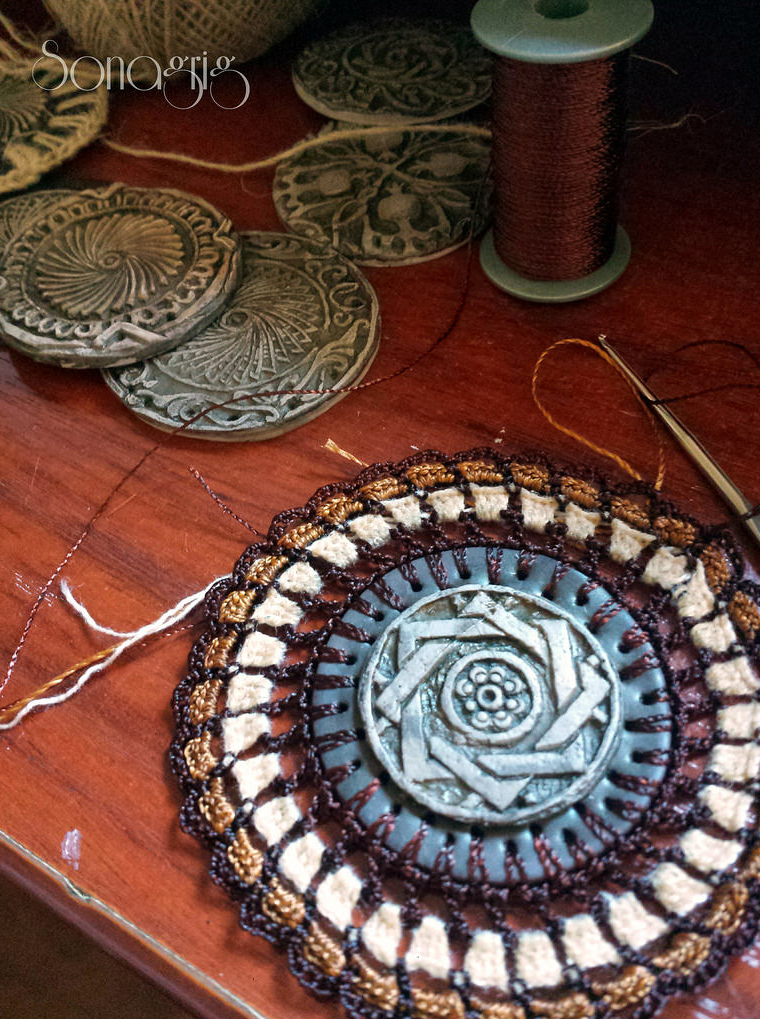 Sona Grigoryan's Gorgeous Crochet and Clay Mandalas