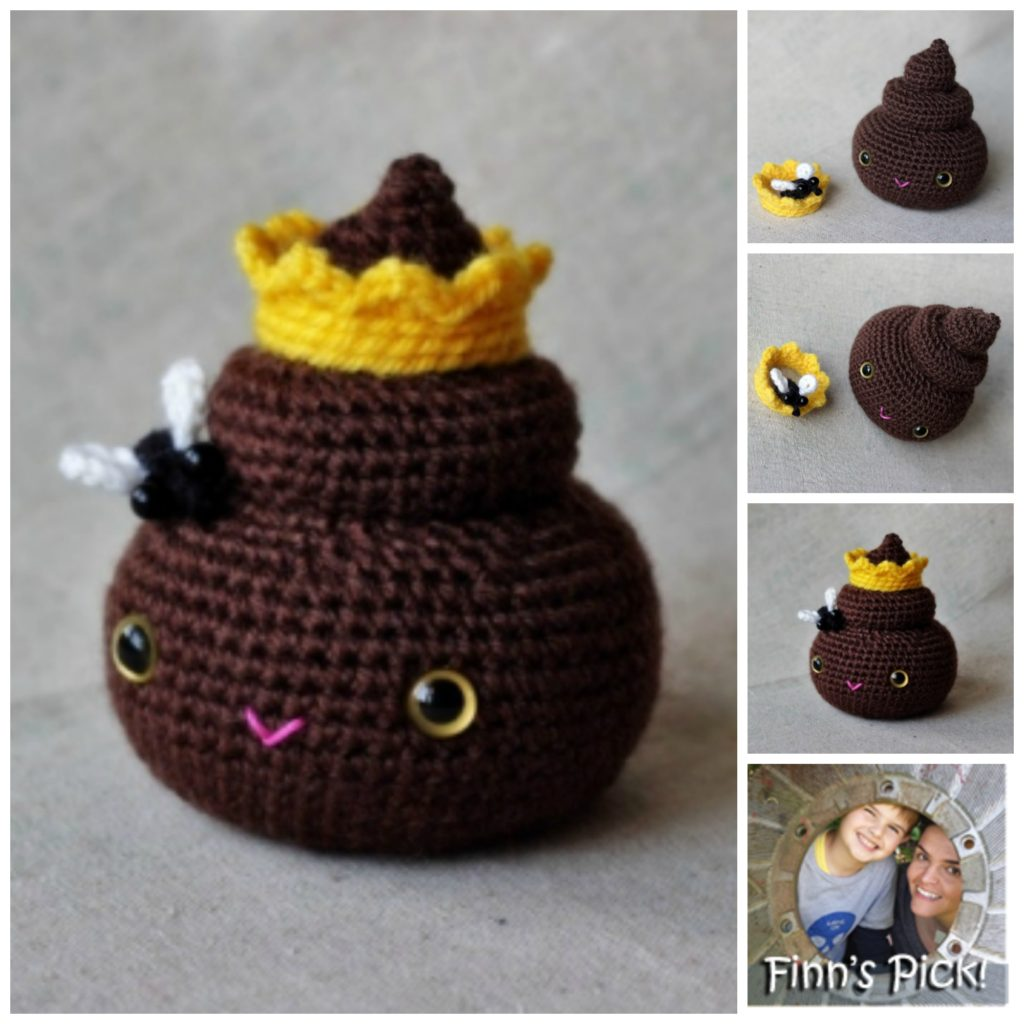 Crochet Princess Poop Amigurumi - Get the Pattern!