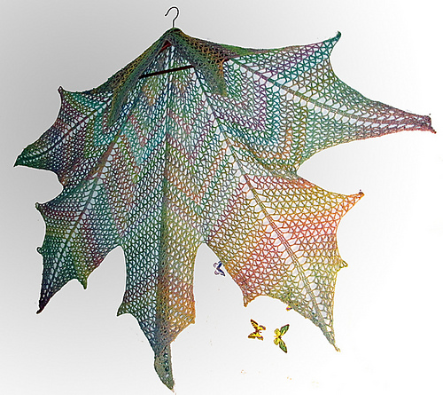 Canada Day is Coming ... Knit or Crochet a Mesmerizing Maple Leaf Shawl