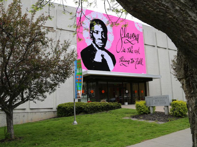 Crocheted Harriett Tubman Mural