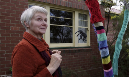 Love, Loss, A Pilfering Neighbor and a War of Yarn Bombs – This Knitting Video Has It All …