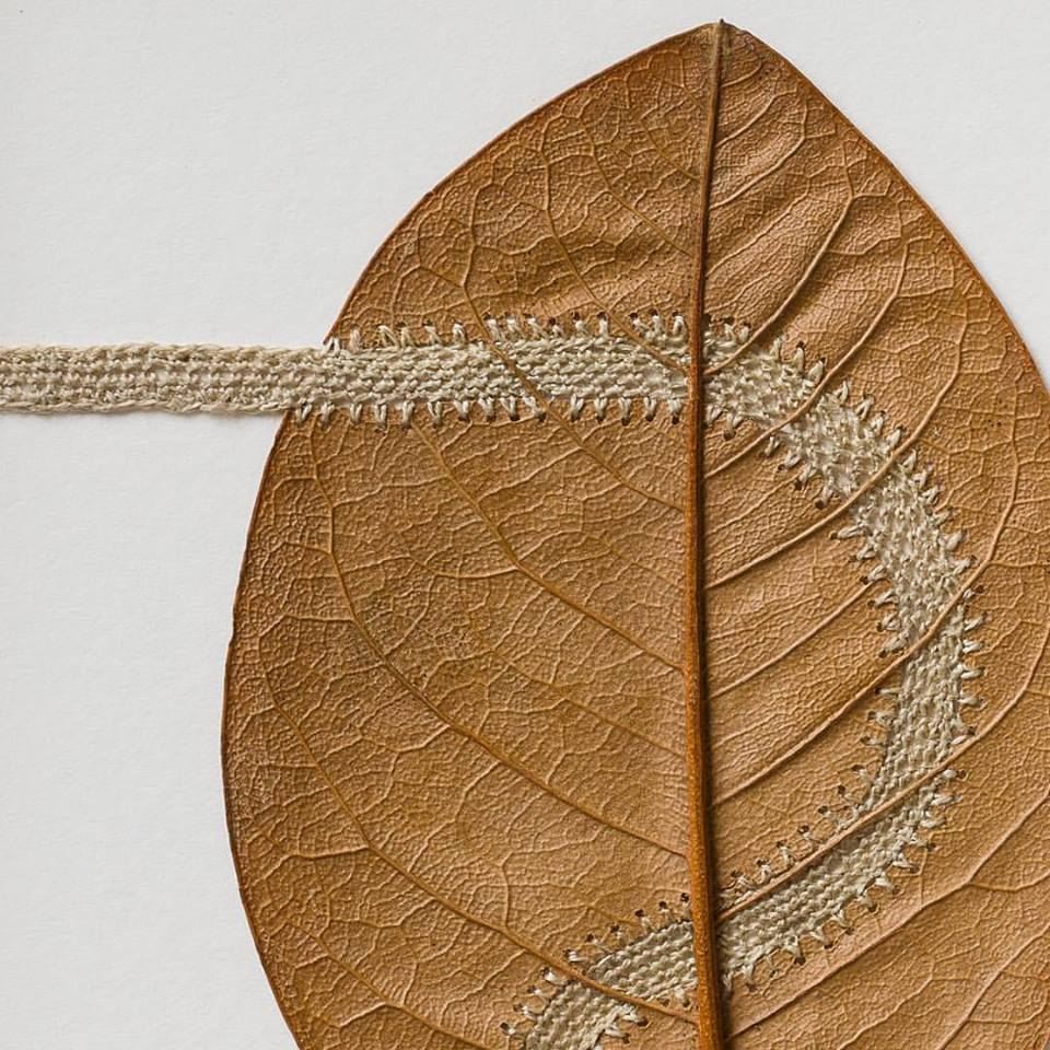 Recent Piece From Leaf Artist Susanna Bauer - It's a Delicate 'Path'