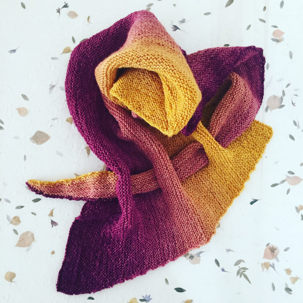 Make a Statement With This Versatile Fashion Scarf - Get The Knit Pattern FREE!