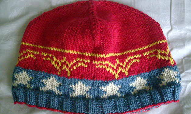 Knit a 'Wonder Beanie' For The Wonder Woman Fans In Your Life – FREE Pattern!