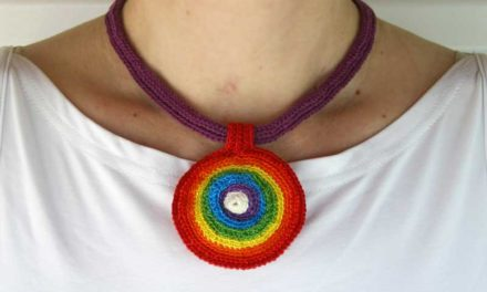Crochet a Rainbow Necklace To Show Your Pride!
