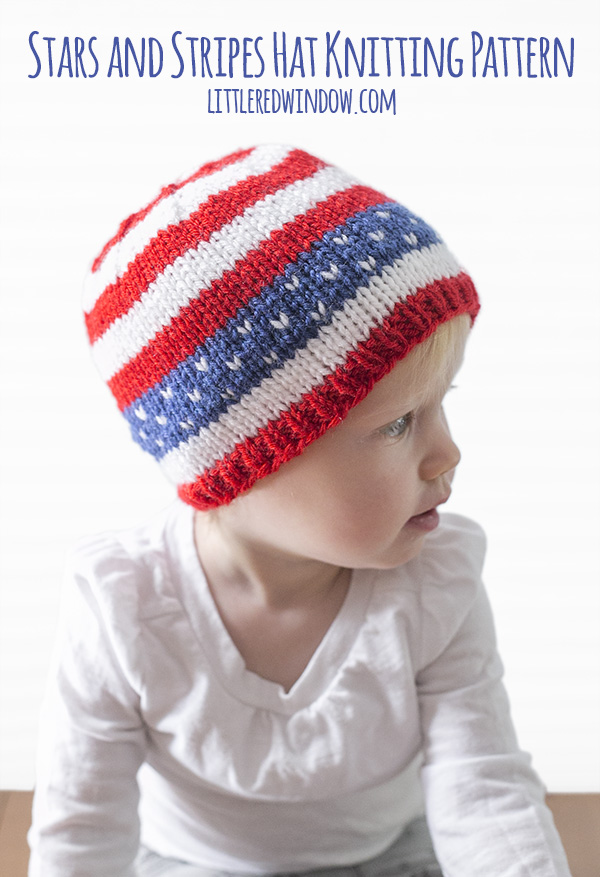 Knit a Stars and Stripes Baby Hat for the 4th of July!