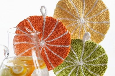 Summer is Coming … Better Knit a Citrus Slice Dishcloth!