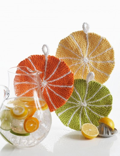 Summer is Coming ... Better Knit a Citrus Slice Dishcloth!