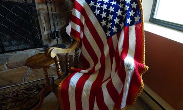 Two Free Patterns To Mark Flag Day in the USA – One Knit, One Crochet!