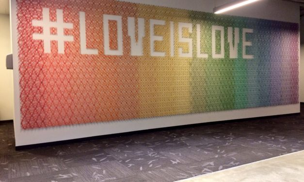 Happy Pride! Twitter HQ Hosts This Spectacular Rainbow String Art By Knits For Life #LoveIsLove