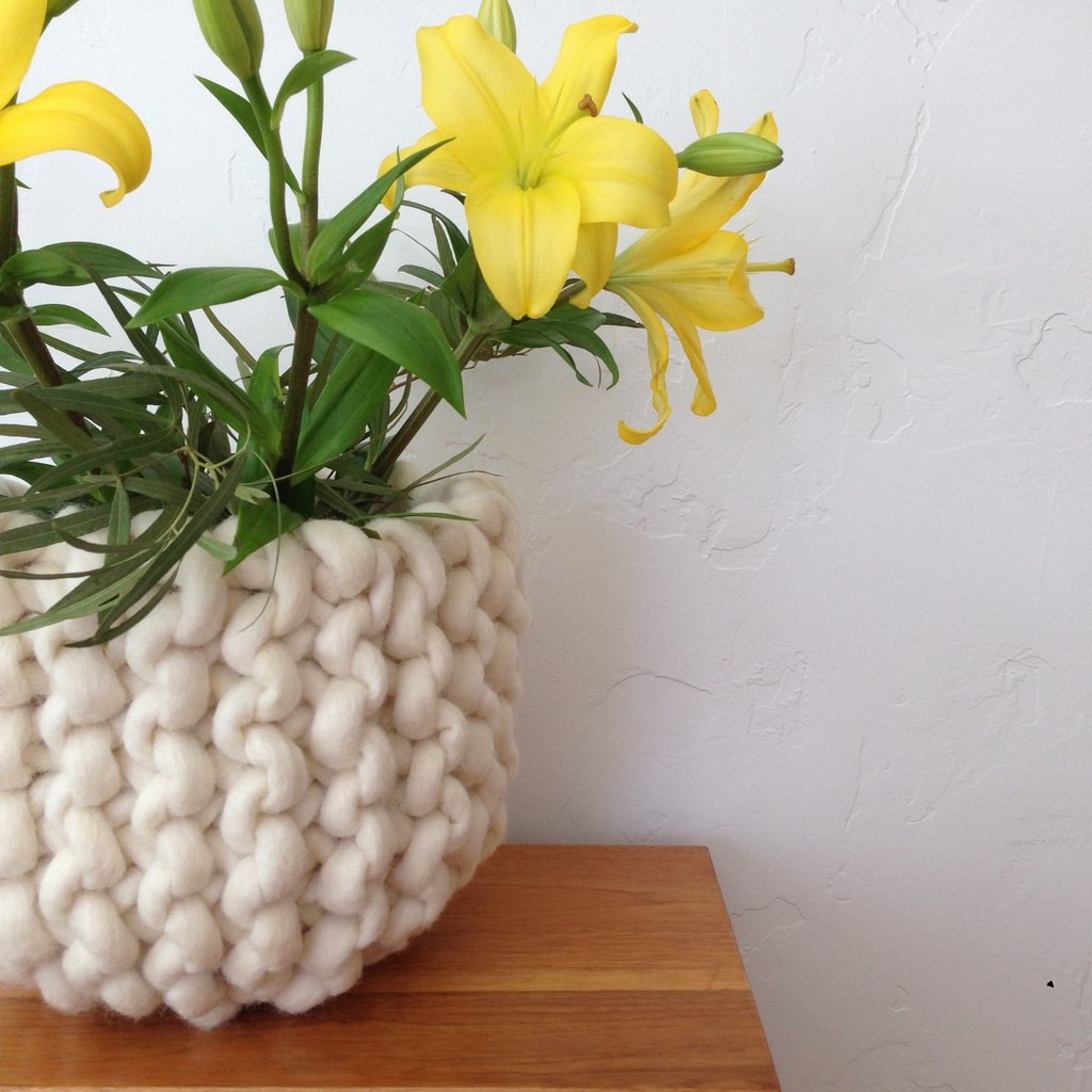 Beautiful BIG Knit Basket - Make One, The Pattern is FREE