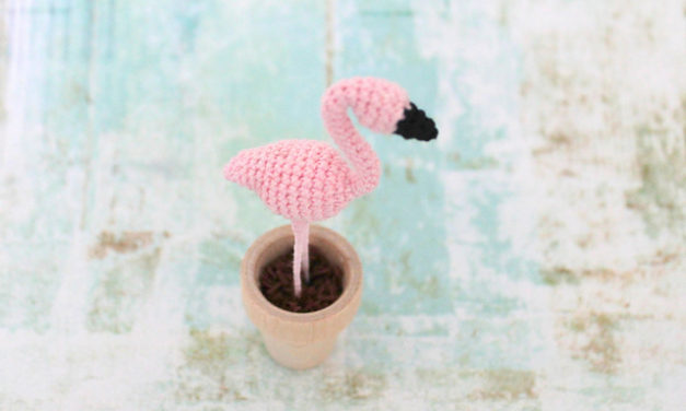 Happy Pink Flamingo Day! Crochet a Tiny Amigurumi to Celebrate This Cultural Icon!