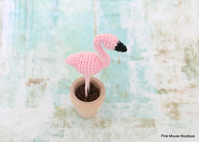 Happy Pink Flamingo Day Crochet A Tiny Amigurumi To Celebrate This