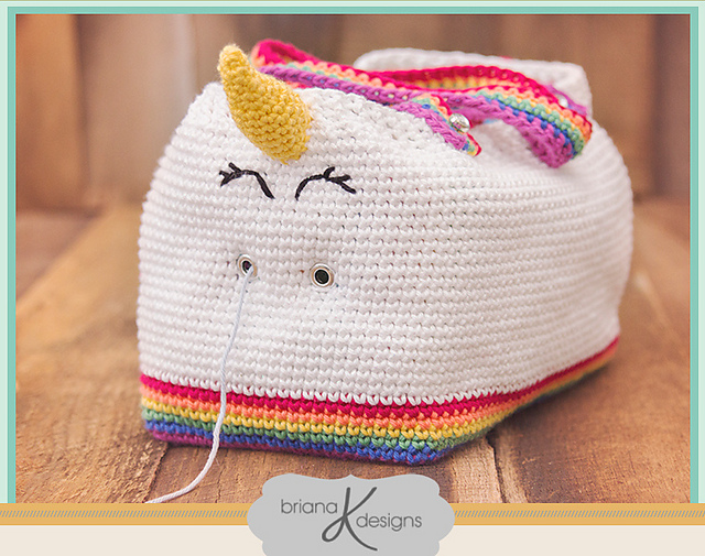 Finn's Pick: 'Unicorn Farts Bag' by Briana K Designs - Get the Crochet Pattern!