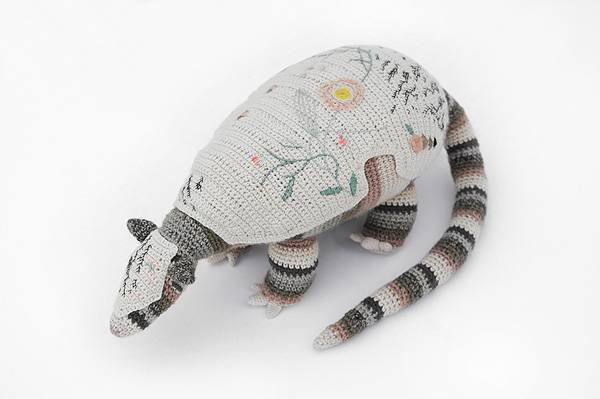 Meet Coco Terraqueo, The Fancy Armadillo Crocheted To Shine a Light on His Species' Plight