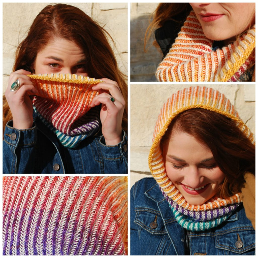 Rainbow Gradient Chromatic Cowl - I'm So Knitting This!