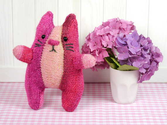Knit a Cat! German-style Stuffed Animal Plushie Pattern