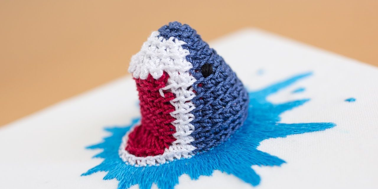 Shark Attack! When Crochet Chomps On Embroidery, Everyone Wins!