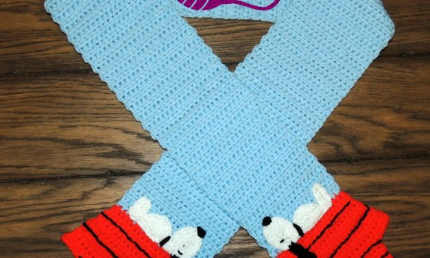 Crochet a Snoopy Scarf and You'll Never Stop Smiling … The Pattern is FREE!