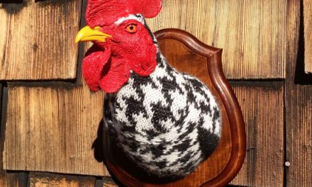 """Eva Devon's """"Sweaty"""" Rooster Rules The Roost … Fauxidermy At It's Best!"""