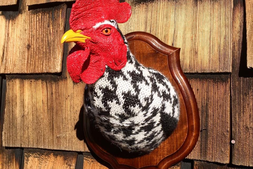 Eva Devon's 'Sweaty' Rooster Rules The Roost … Fauxidermy At It's Best!