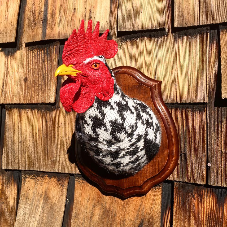Eva Devon's 'Sweaty' Rooster Rules The Roost ... Fauxidermy At It's Best!