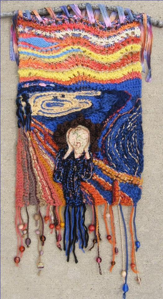 Edvard Munch's Scream - An Interpretation In Crochet By Loren Gaggini
