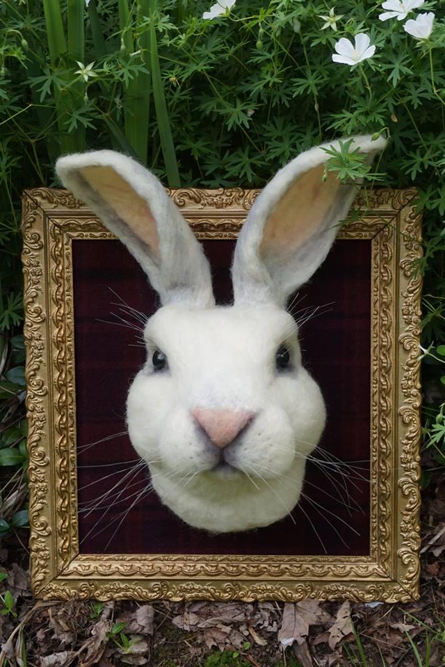 Fantastic Mr. Rabbit Felted By Bella McBride