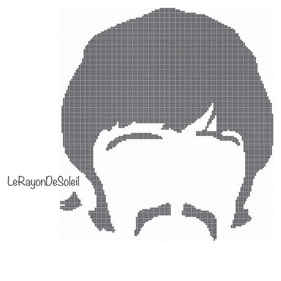 Happy Birthday to Ringo Starr! Celebrate With This Fab Cross Stitch Silhouette …