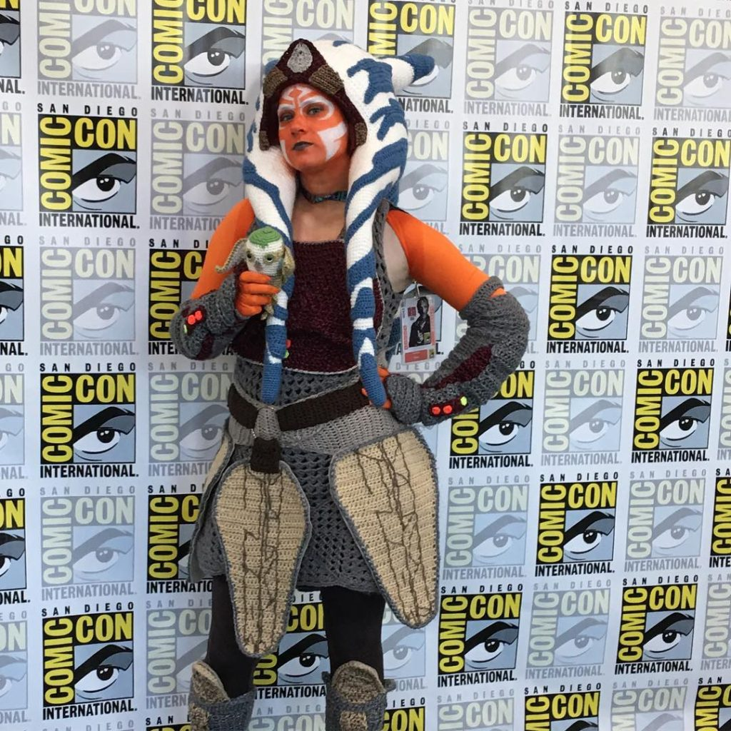 Cosplay Alert! She Updated Her Crochet Ahsoka Tano Costume! #StarWars #SDCC