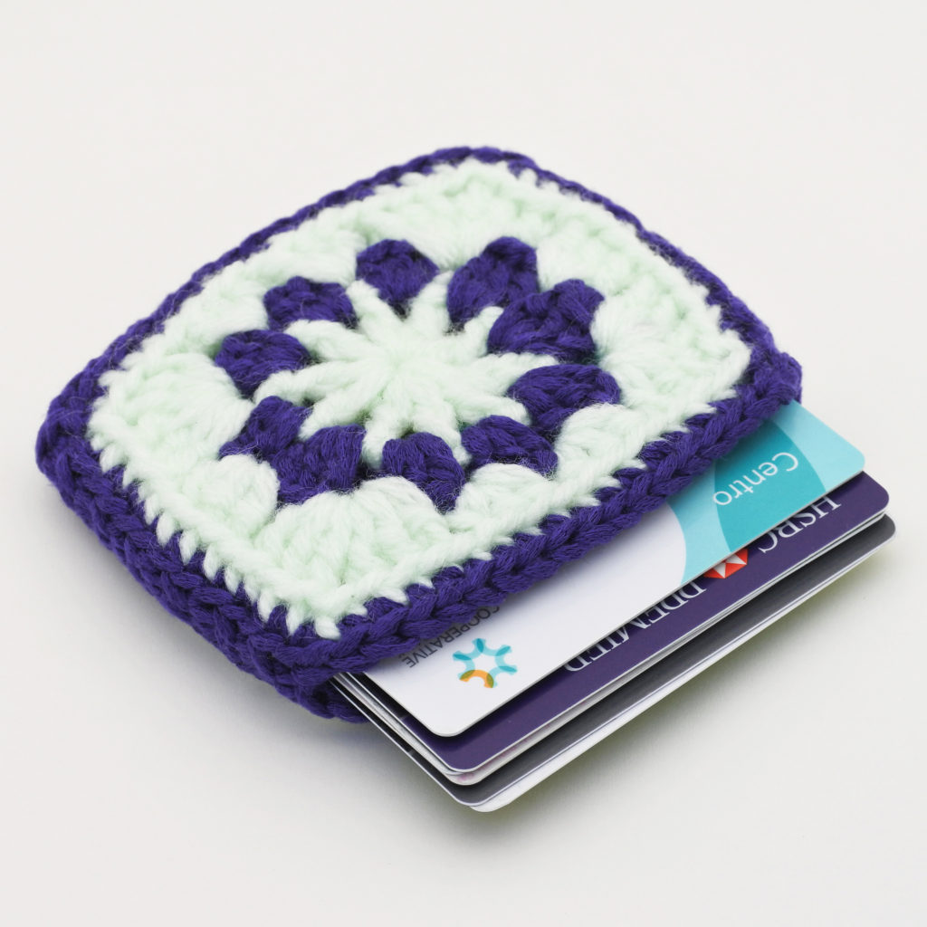 Granny Square Case for Cards - Perfect Travel Companion For Summer Excursions!