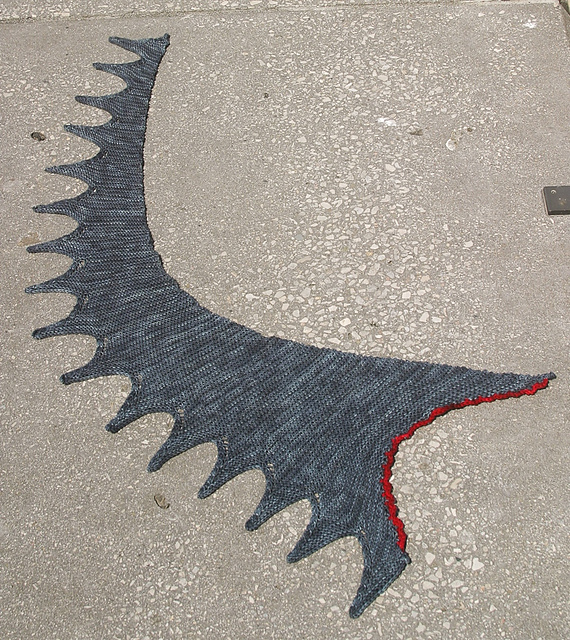 Knit a Shark Bite Shawl - This Jagged Little Wedge Is So Creative and 100% Knitworthy!