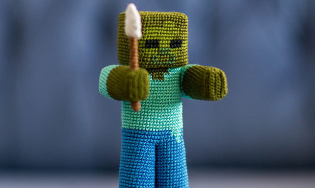 Finn's Pick: Crochet Zombie from Minecraft … It Even Has a Shovel!