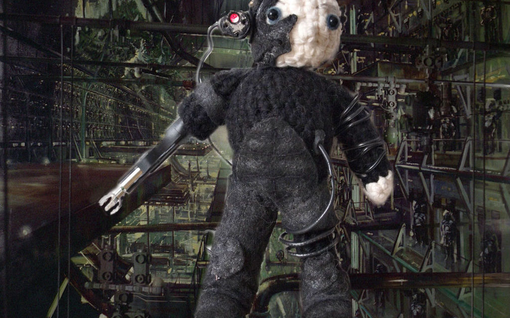 She Crocheted a Locutus Amigurumi With a Working Laser and a Spinning Claw!